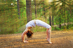 Yoga bow pose Royalty Free Stock Image