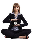 Yoga in business - easy time management isolated Stock Photography