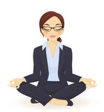 Yoga business woman Royalty Free Stock Photography