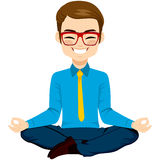 Yoga Businessman Relaxing Royalty Free Stock Photo