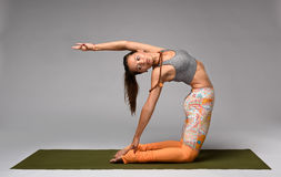 Yoga camel pose Stock Image
