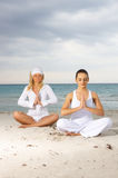 Yoga at Caribbean Royalty Free Stock Images