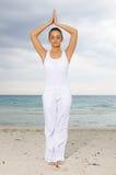 Yoga at Caribbean Royalty Free Stock Photos