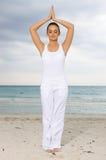 Yoga at Caribbean Royalty Free Stock Image