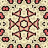 Yoga carré Mandala Pattern Tile pour la carte de voeux Photo stock
