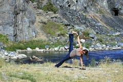 Yoga casuale Fotografia Stock Libera da Diritti