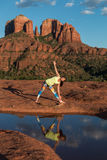 Yoga at Cathedral Rock Stock Image