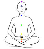 Yoga chakras Stock Photos