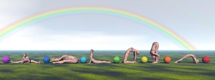 Yoga and chakras Stock Photo