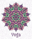 Yoga circular mandala Royalty Free Stock Photo