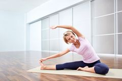 Yoga class Royalty Free Stock Photo