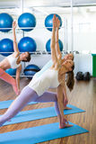 Yoga class in fitness studio. At the leisure center Stock Image