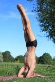 Yoga class outdoors Stock Photos