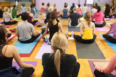 Yoga class Royalty Free Stock Images