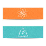 Yoga class and studio template banner royalty free illustration