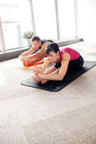 Yoga class stock images