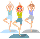 Yoga classes Royalty Free Stock Images