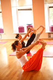 Yoga at club Stock Images