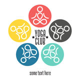 Yoga club template. Yoga logo graphic design Stock Image