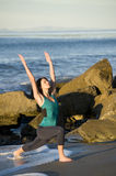 Yoga On the Coast vertical Royalty Free Stock Photos