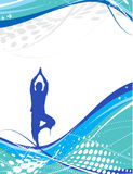 Yoga composition. Halftone wave line with yoga composition ,vector illustration Stock Photography