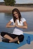 Yoga confusa Imagen de archivo libre de regalías