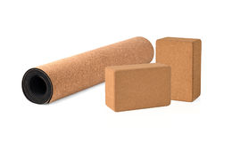 Yoga Cork Mat Premium et écologique Photo stock