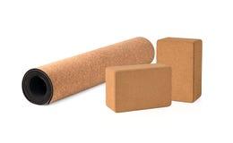 Yoga Cork Mat Premium und Eco freundlich stockfoto