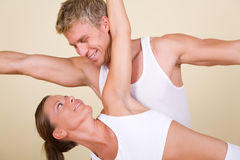 Yoga Couple Stock Image