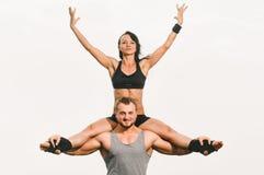 Yoga Couple Stock Images