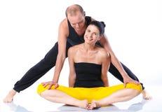 Yoga couple Royalty Free Stock Photos
