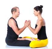 Yoga couple Royalty Free Stock Photo