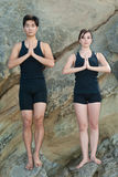 Yoga for couples Royalty Free Stock Images