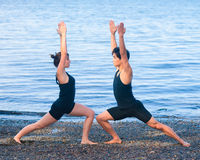 Yoga for couples Stock Images