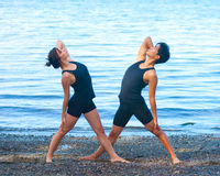 Yoga for couples Stock Photography