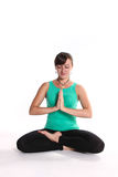 Yoga-Crossed_legs lizenzfreies stockbild