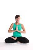 Yoga-Crossed_legs Royalty Free Stock Image