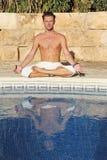 Yoga d'été photographie stock libre de droits