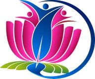 Yoga d'active de couples Photo libre de droits