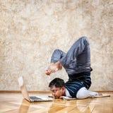 Yoga d'affaires Photographie stock libre de droits