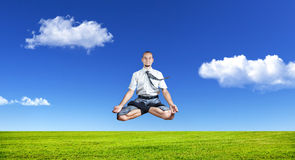 Yoga d'affaires Photos stock