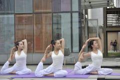 Yoga d'Aoyuan Photo stock