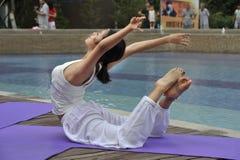 Yoga d'Aoyuan Images libres de droits
