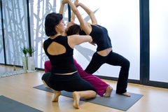 Yoga d'istruzione Fotografia Stock Libera da Diritti