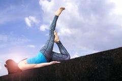 Yoga da meditare immagini stock