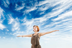 Yoga dance Royalty Free Stock Images