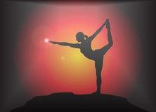 Yoga Dancer Pose Glare Background Royalty Free Stock Photo