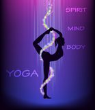 Yoga dancer's pose (natarajasana). Royalty Free Stock Photo