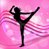 Yoga Dancing Represents Meditated Disco And Posing Stock Images