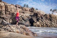 Yoga dans l'Inde Image libre de droits